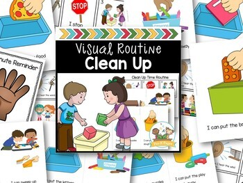 Clean Up Routine for Preschool and Pre-K Editable