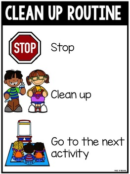 Clean Up Routine Posters, Class Book, Coloring Book, Signs, & Awards