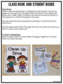 Clean Up Routine Posters, Class Book, Mini Book, Signs, and Awards