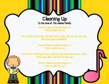 Clean Up Song *FREEBIE*