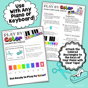 Clean Up Song Color-Coded Song Sheet, Beginners Can Play Songs Right Away!