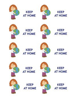 Clean World Labels | Bring Back | Keep Home | Blank Labels
