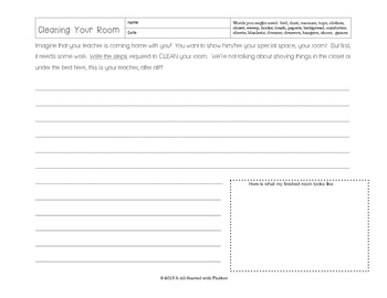 Clean Your Room - Sequencing Activity and How-To Writing