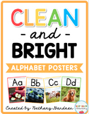 Clean and Bright Alphabet Posters