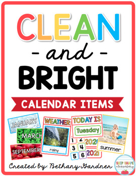 Clean and Bright Calendar Items