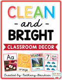 Clean and Bright Classroom Decor Bundle