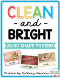 Clean and Bright Shape Posters
