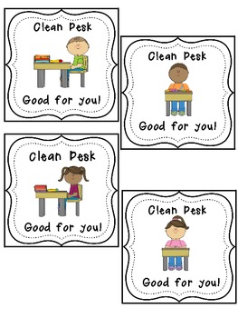 Clean and Messy Desk Tags