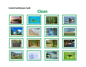 Clean and Polluted Ecology Sorting Cards Activity behaviour