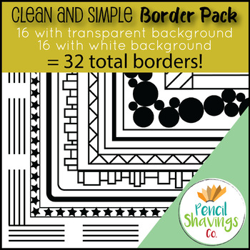 Clean and Simple Border Pack (32 Borders Total!)