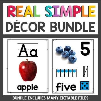 Clean and Simple Classroom Decor Bundle