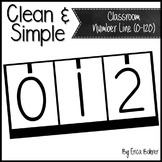Clean and Simple Classroom Number Line