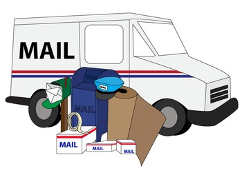 Clean and Simple Mail Box Letter Postal Service Clip Art ...Usps Delivery Truck Clipart
