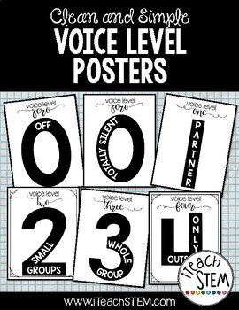 Clean and Simple Voice Level Posters