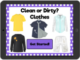 Distance Learning Clean or Dirty? Clothes: Interactive PDF