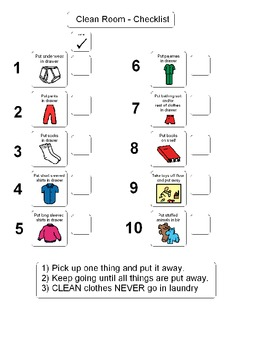 Clean Room Checklist for Boys