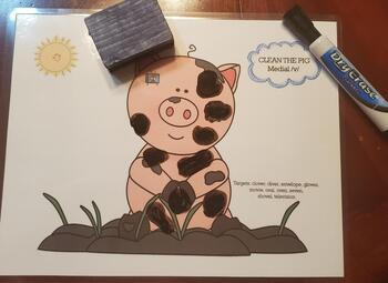 Clean the Pig Bundle Preschool Articulation Speech /f/ /k/ /g/ /v/