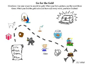 Clean the Pig and Go for the Gold (/k/ and /g/ dry erase activities)