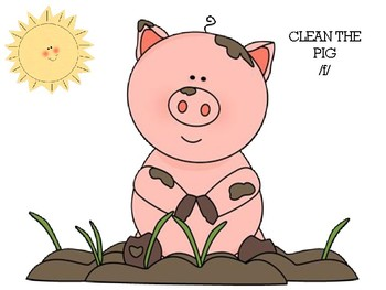 Clean the Pig /f/ Articulation Activy for preschoolers or elementary age