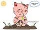 Clean the Pig /f/ Preschool Articulation Activity Speech Therapy