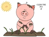 Clean the Pig /f/ Articulation Activy for preschoolers or