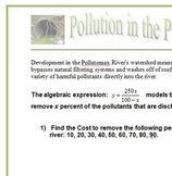 Clean-up of the Pollutomax: A Rational Expressions and Equations Activity