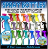 Cleaning Bottles Spray Bottles Clip Art for Personal and C