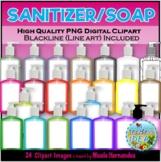 Sanitizer Bottles Soap Bottles Clip Art for Personal and C