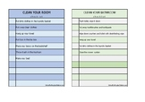 Cleaning Checklists For Kids