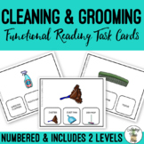 Cleaning & Grooming Supplies Functional Reading Task Clip Cards