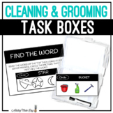Cleaning & Grooming Task Boxes - Find The Word
