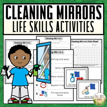 Cleaning Mirrors Life Skills Activities