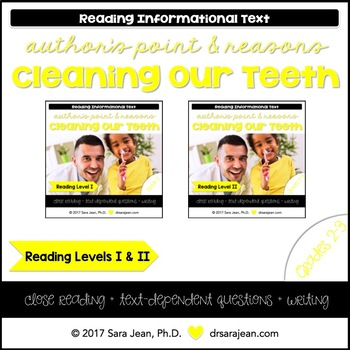 Cleaning Our Teeth • Reading Comprehension Passages and Questions • RL I & II
