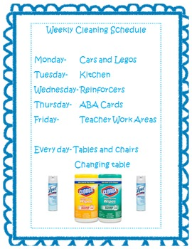 Cleaning Schedule (Editable)