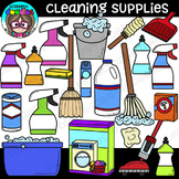 Cleaning Supplies Clipart {Scrappin Doodles Clipart}