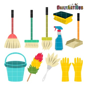 Cleaning Things Clip Art - Great for Art Class Projects!