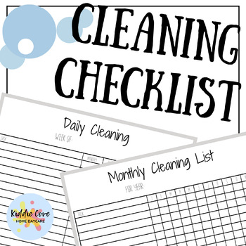 Cleaning Tracker Forms