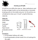 Cleaning Up Oil Spills Activity