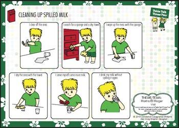 Cleaning Up Spilled Milk/Limpiando Leche Derramada