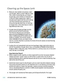 Cleaning Up the Space Junk/Pollution - Informational Text Test Prep