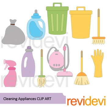 Cleaning appliances clip art