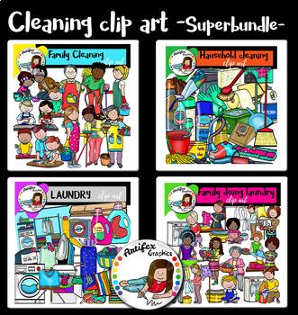 Cleaning clip art Superbundle- 134 images!!!