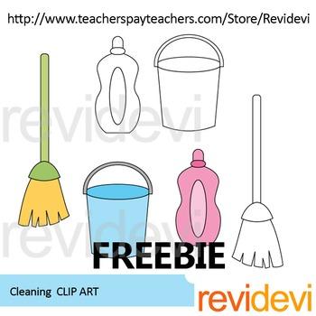 Cleaning clip art freebie
