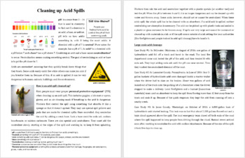 Cleaning up Acid Spills - Reading Article - Grades 5-7