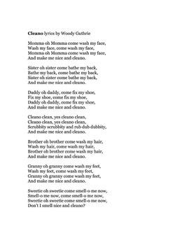 Cleano Packet - Songs and Feelings