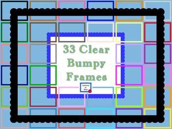 Clear Bumpy Frames by LiB