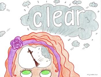 Clear Mind Cartoon--Printable Montessori Homonym Cards