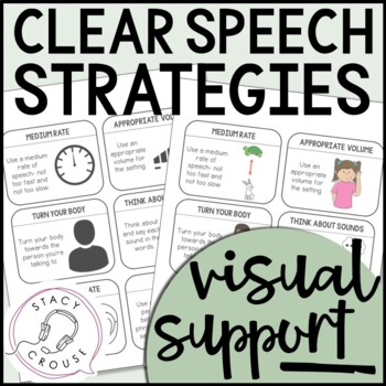 Clear Speech Strategies Visual Support