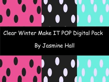 Clear Winter Make It POP Digital Kit
