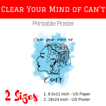 Clear Your Mind of Can't Poster